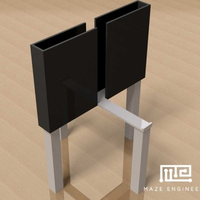 Elevated plus maze rat with height inserts