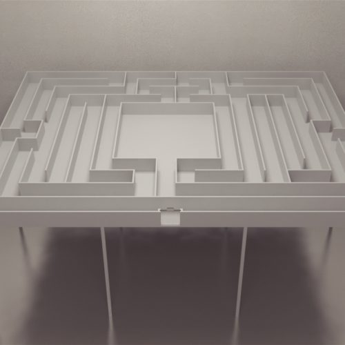 Maze Engineer's Modern Version of Small's Hampton Court Maze