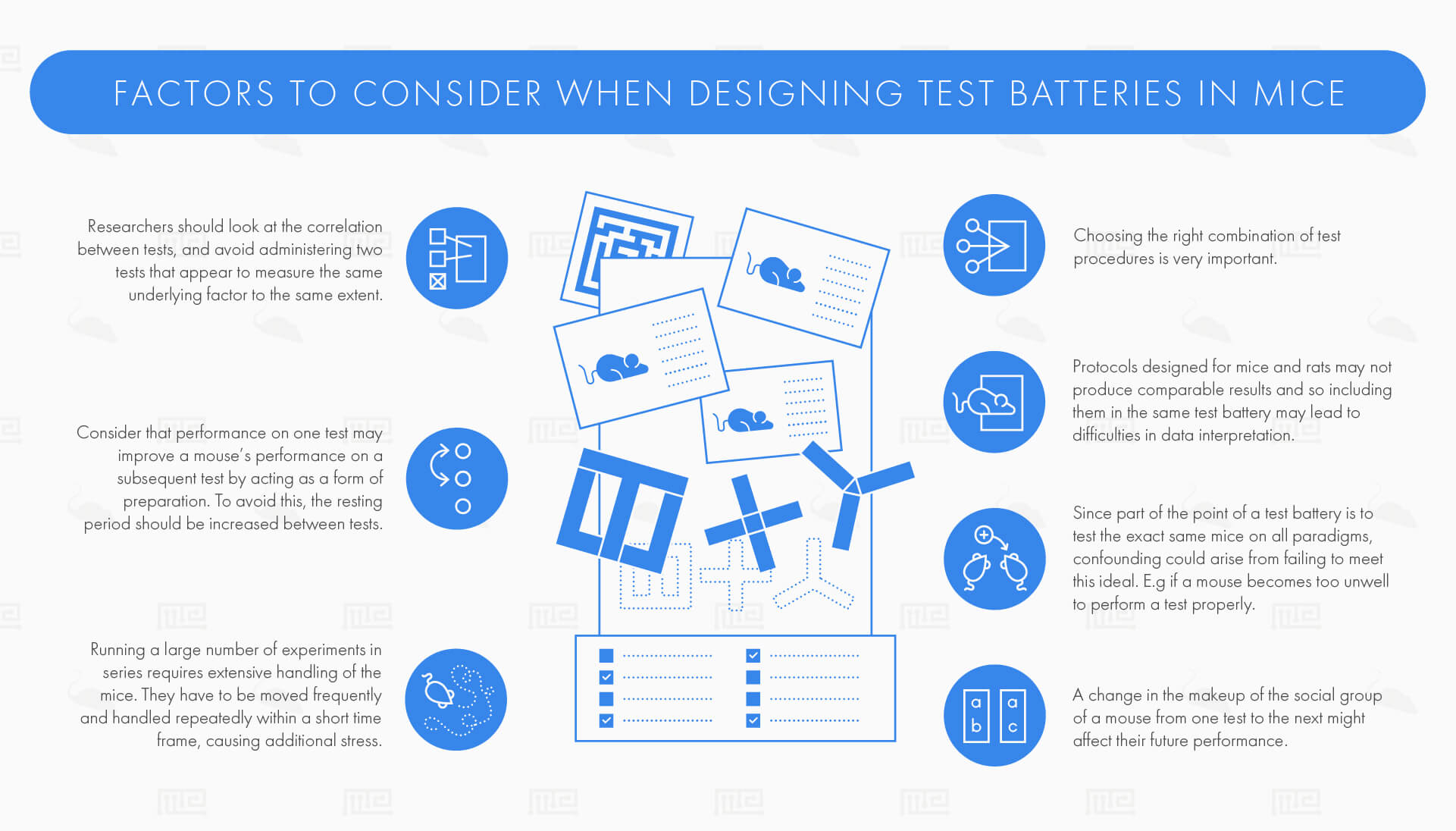 factors to cosider when designing test batteries