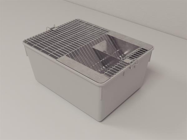 Mice Cage Polycarbonate with Grill - Fitted with two hooks of brass material for locking the grill to the top of the body cage