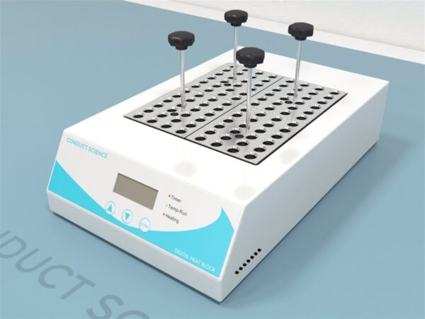 Digital dry bath offers digital control over both temperature and time